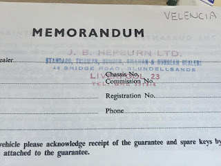 J B Hepburn Ltd dealer stamped memorandum