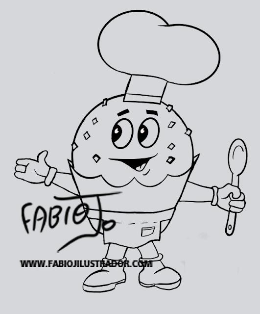 criação de personagem mascote brigadeiro desenho arte ilustração  fabio j ilustrador comprar encomendar designer publicidade