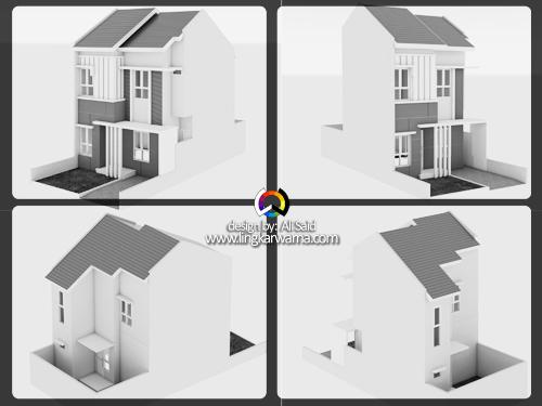 Desain rumah perumahan dua lantai