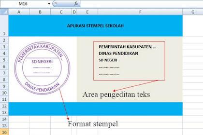 Aplikasi Desain Stempel Sekolah Menggunakan Excel