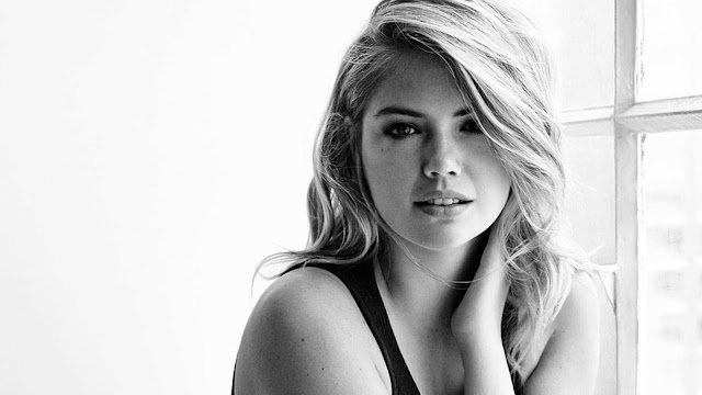 Black & White Kate Upton Wallpaper
