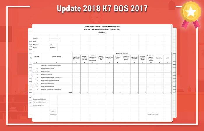 Update Rabu 28 Februari 2018 K7 BOS 2017