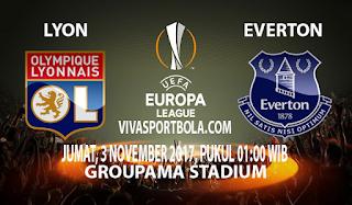 Prediksi Lyon vs Everton 3 November 2017