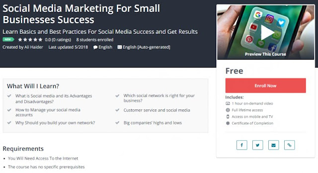 [100% Free] Social Media Marketing For Small Businesses Success