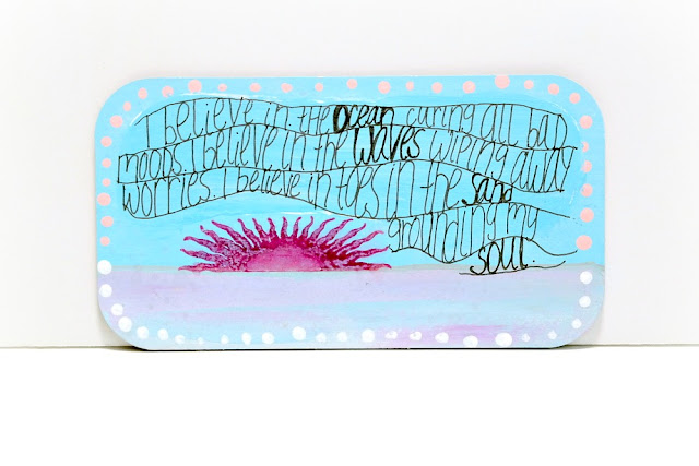 Ocean Sunrise Mixed Media Board by Dana Tatar for Tando Creative