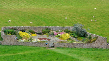 Jardín amurallado de Gertrude Jekyll en Lindisfarne Castle