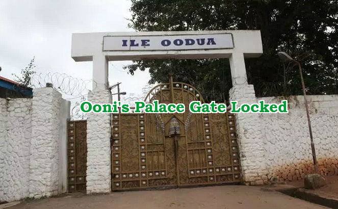 ooni palace gate locked