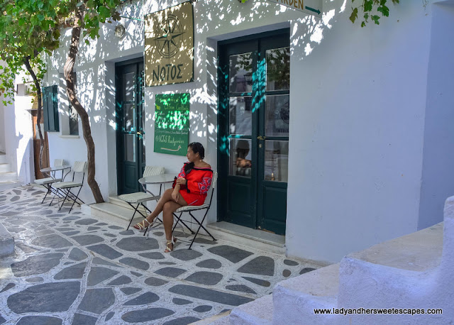 Lady in Naxos Chora