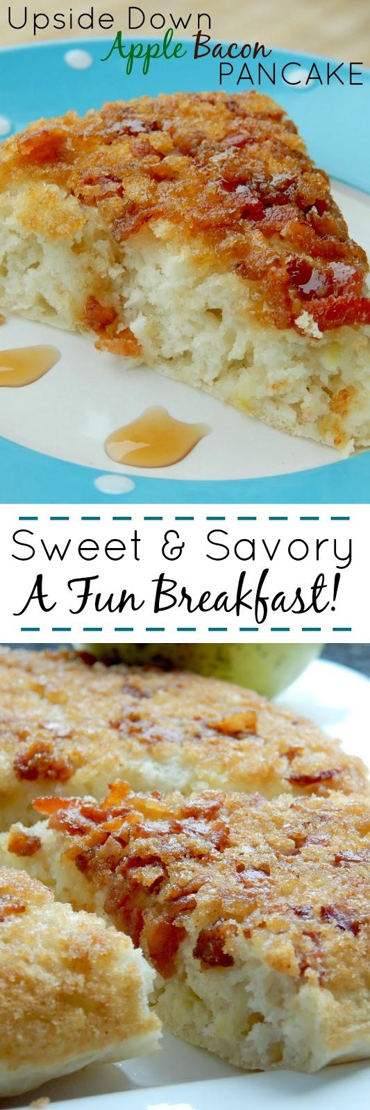 updside down apple bacon pancake (sweetandsavoryfood.com)