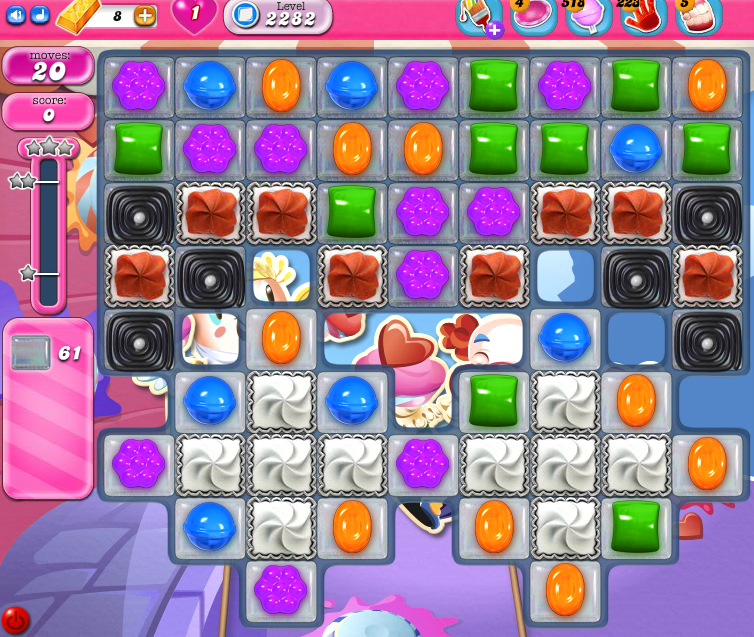 Candy Crush Saga level 2282