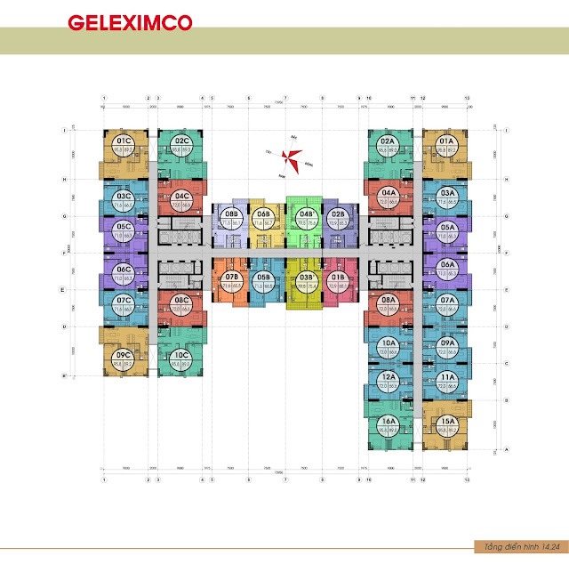 Thiết kế mặt bằng Gemek Premium