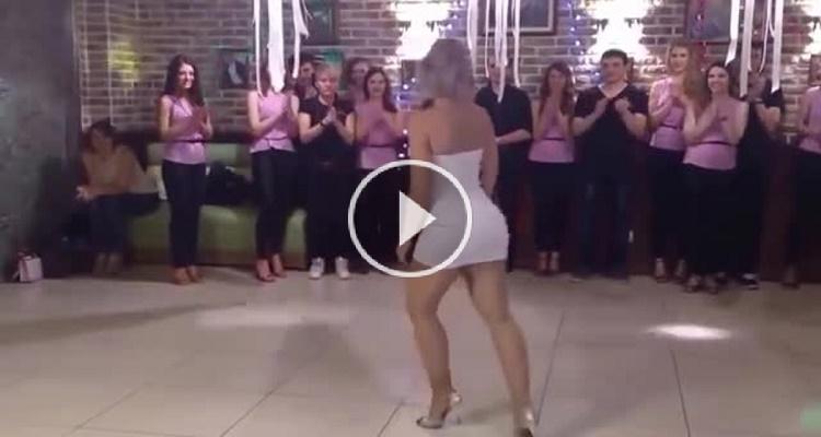 المعنى الحقيقي لكلمة صارووووووخ .. رقصة غير عادية لفتاة نارية