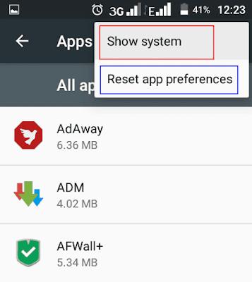 app options