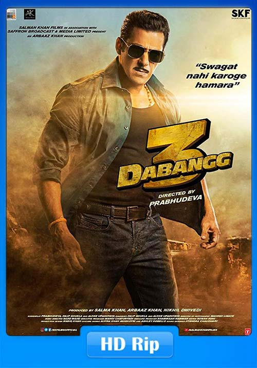 Dabangg 3 2019 Hindi 720p HDRip ESub x264 | 480p 300MB | 100MB HEVC