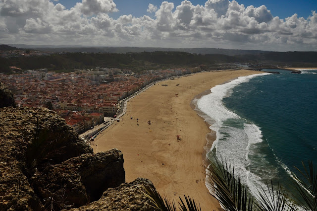 Nazare beach view from abowe.