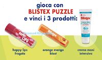 Logo Blistex Puzzle : Gioca e Vinci gratis set di prodotti cosmetici