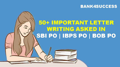 50+ Letter Writing Topics Asked in Previous Year SBI | IBPS | BOB & Syndicate PO Exam