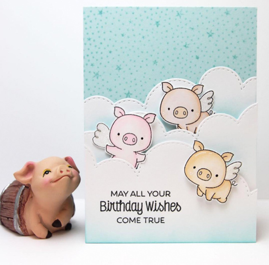 Birdie Brown Hog Heaven stamp set and Die-namics - Vera Wirianta Yates #mftstamps