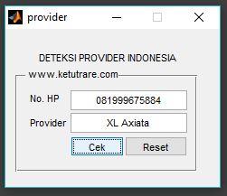 contoh 1 untuk provider XL
