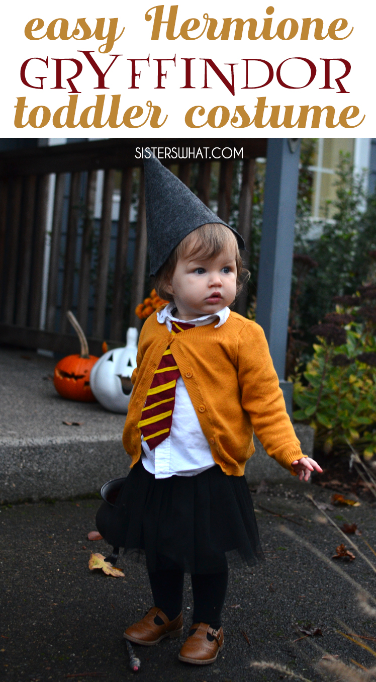 easy little toddler witch hermione granger Harry Potter Hogwarts Gryffindor student costume