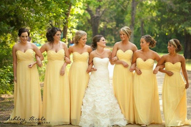 About Yellow Bridesmaids Dresses