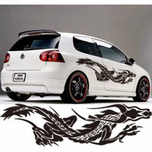 Modified car with cool decals   Super Sport Car Dragon car decals  car decals  tribal car decal  car decals design  car