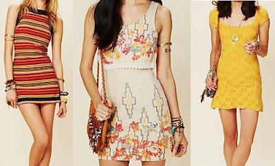3 de los muchos diseños de vestidos de free people