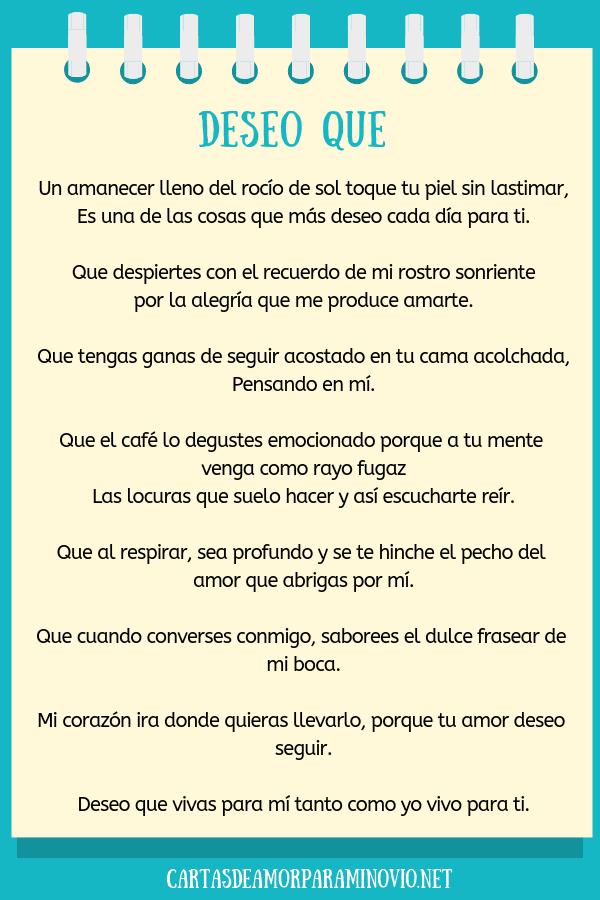 Carta de amor para mi novio para llorar - Deseo que