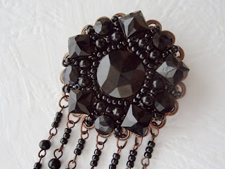 black jewelry from antique beads