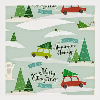 Designer Christmas Cards with Christmas Trees