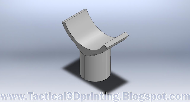 3D Printing a Rifle Stabilizer CAD Drawing Part Solidworks 1