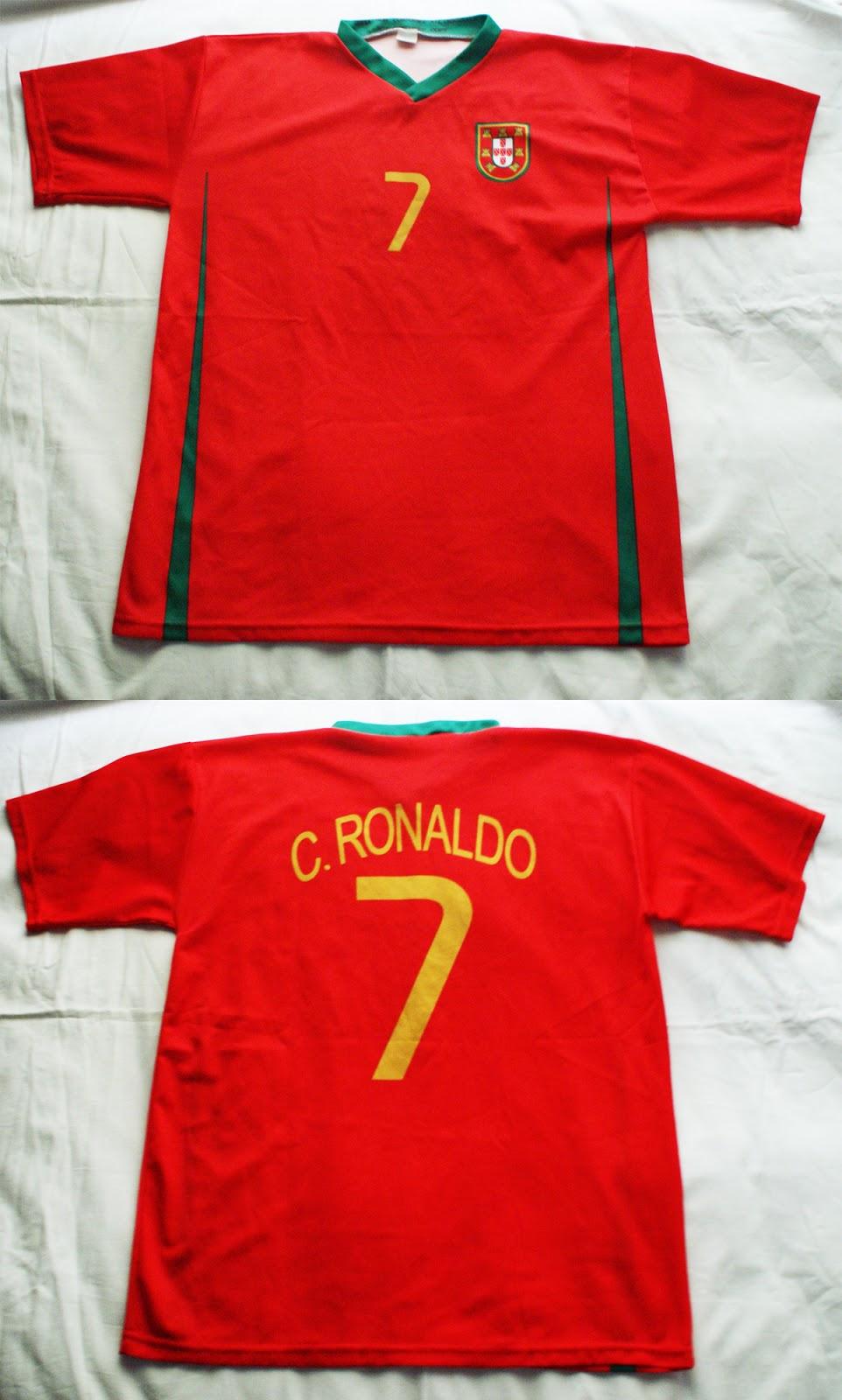 1º Camiseta Portugal 2007 2008 a41739ef38feb