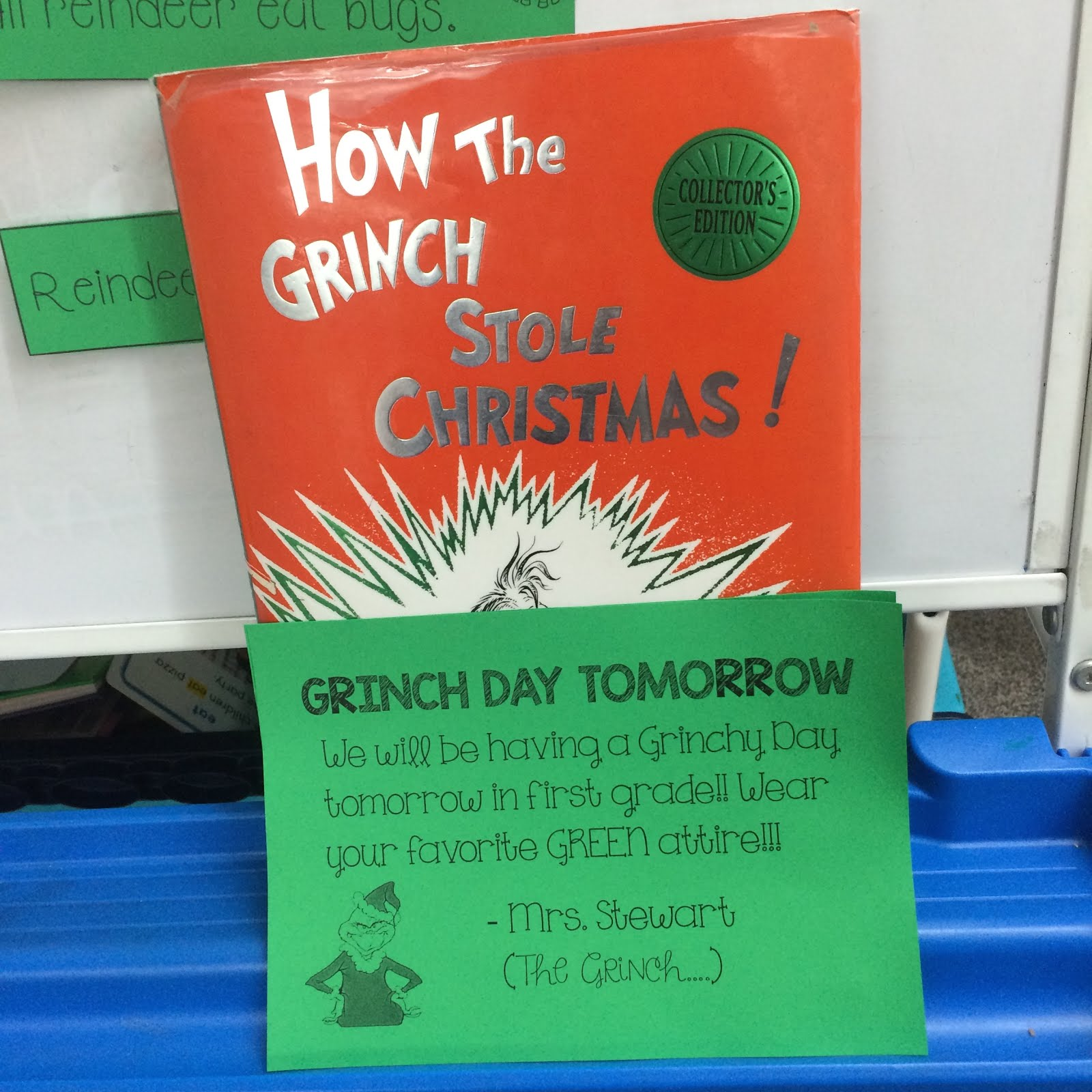 Falling Into First Grinch Day Reindeer Polar Express