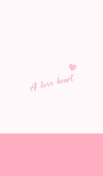 a love heart-pink