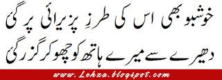Khushbo Ki Tarah Pazeerae Par Gaye  Dheery Sy Mery Haath Ko Choo Kar Guzar Gaye