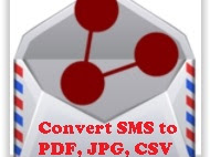 How to Backup, Share, Convert and Print SMS to PDF or CSV.