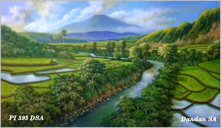 Baru 30++ Lukisan Pemandangan Indah Gambar Pemandangan ...