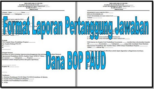 Format Laporan Pertanggung Jawaban (LPJ) Dana BOP PAUD