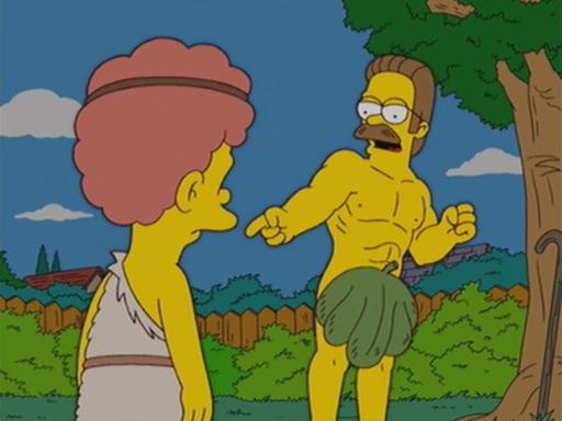 Resultado de imagen de the simpsons Homer and Ned's Hail Mary Pass