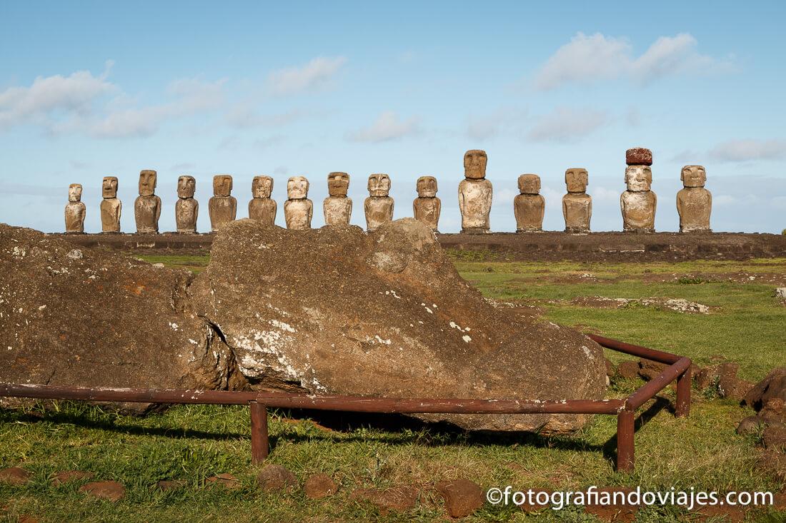 Moais de Tongariki en Isla de Pascua