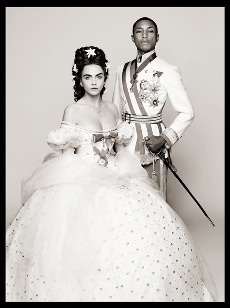 Cara Delevingne e Pharrell figurino fashion filme chanel