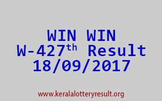 WIN WIN Lottery W 427 Results 18-9-2017