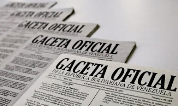 Véase Gaceta-Oficial-Extraordinaria Nº 6382 15 de junio de 2018