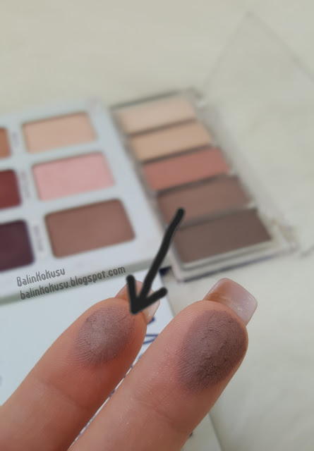 The balm far paleti swatch