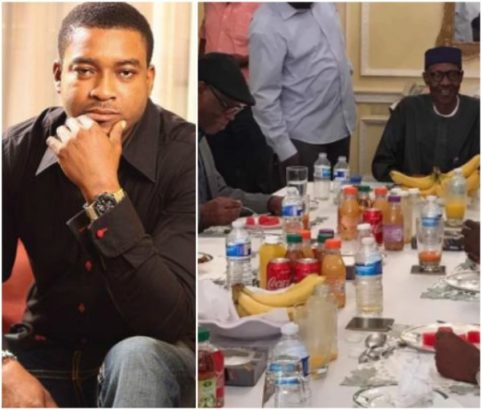 Chidi Mokeme Mocks Photo Of President Buhari And APC Members In London