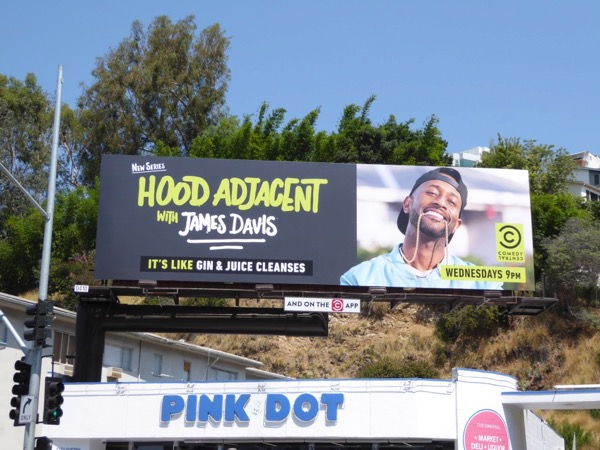 Hood Adjacent James Davis series billboard