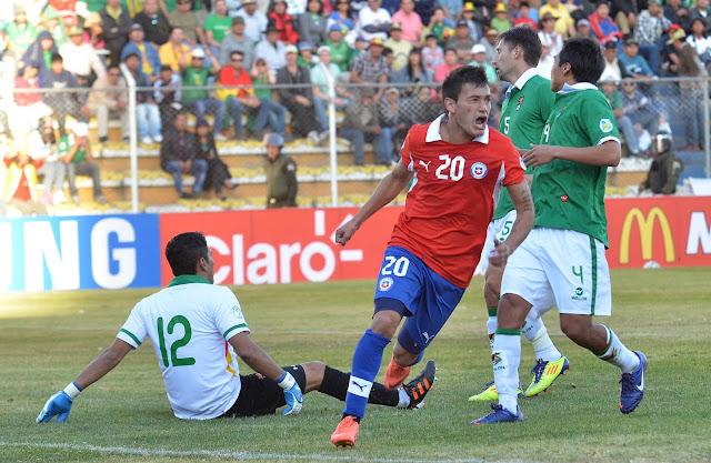 Bolivia y Chile en Clasificatorias a Brasil 2014, 2 de junio de 2012