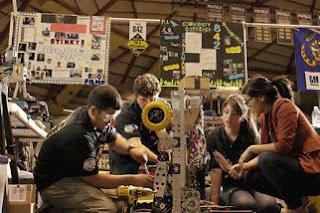 Anjelica Hernandez and HS robotic team