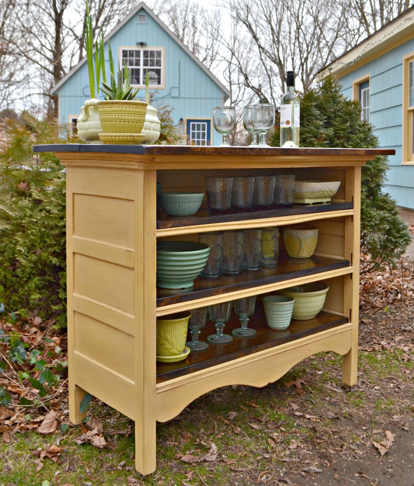 Repurposed Antique Dresser As A Kitchen Island With A: Heir And Space: An Antique Dresser Turned Kitchen Island