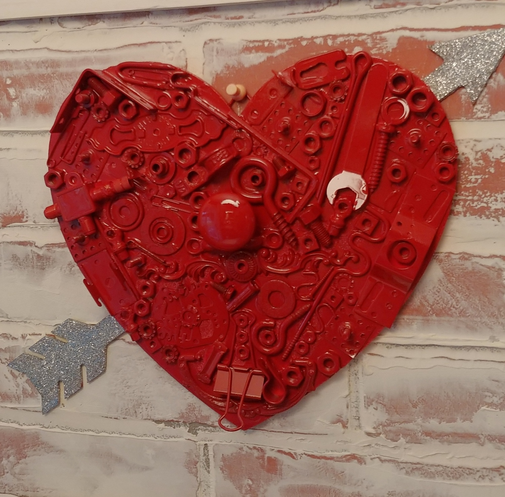 heart made from junk
